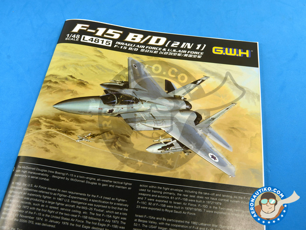 Image 22: McDonnell Douglas F-15 Eagle B / D | Airplane kit in 1/48 scale manufactured by Great Wall Hobby (ref. L4815)