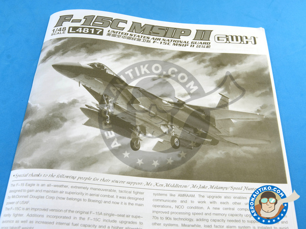 Image 20: McDonnell Douglas F-15 Eagle C MSIP II | Airplane kit in 1/48 scale manufactured by Great Wall Hobby (ref. L4817)