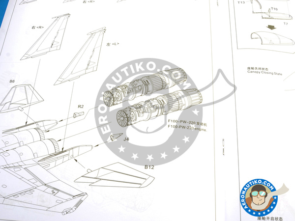 Image 26: McDonnell Douglas F-15 Eagle C MSIP II | Airplane kit in 1/48 scale manufactured by Great Wall Hobby (ref. L4817)