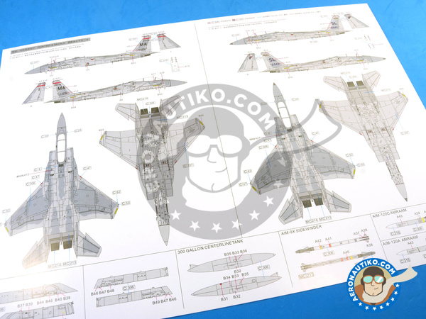 Image 29: McDonnell Douglas F-15 Eagle C MSIP II | Airplane kit in 1/48 scale manufactured by Great Wall Hobby (ref. L4817)