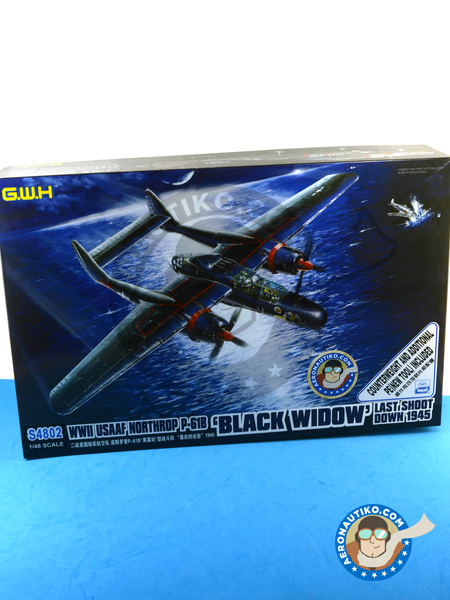 Northrop P-61 Black Widow B Last Down | Airplane kit in 1/48 scale manufactured by Great Wall Hobby (ref. S4802) image