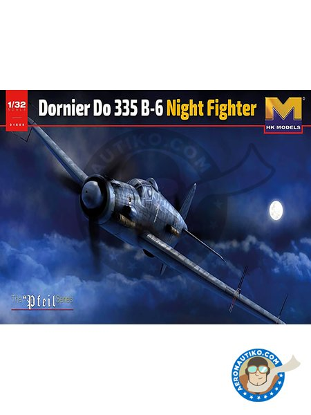 Dornier Do 335 B-6 Nightfighter | Airplane kit in 1/32 scale manufactured by HK Models (ref. 01E21) image