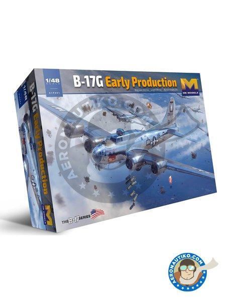 B-17G Early Production | Airplane kit in 1/48 scale manufactured by HK Models (ref. 01F001) image