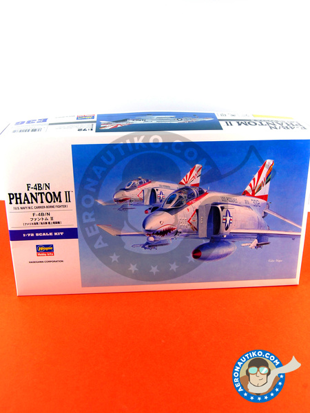 McDonnell Douglas F-4 Phantom II B / N | Airplane kit in 1/72 scale manufactured by Hasegawa (ref. 01566) image