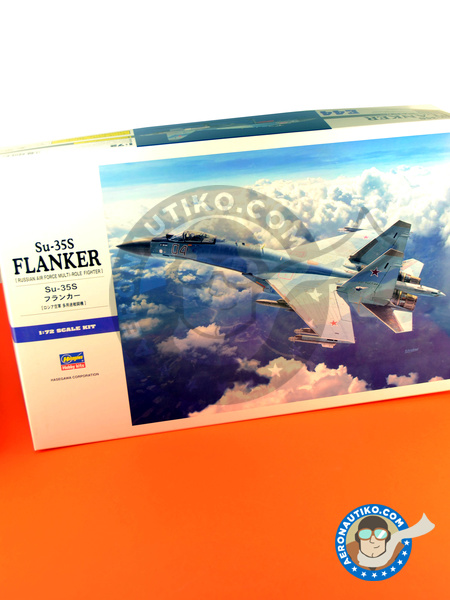 Sukhoi Su-35 Flanker S | Airplane kit in 1/72 scale manufactured by Hasegawa (ref. 01574) image