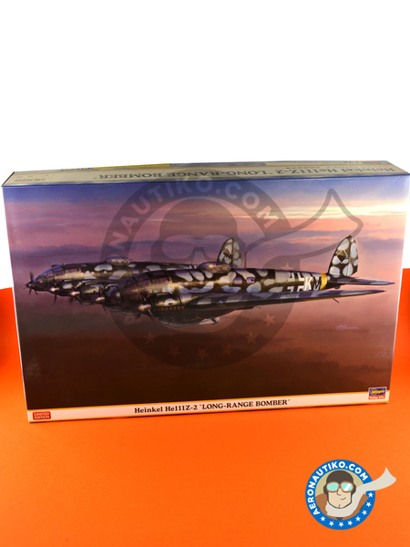 Heinkel He 111 Z-2 | Airplane kit in 1/72 scale manufactured by Hasegawa (ref. 01940) image