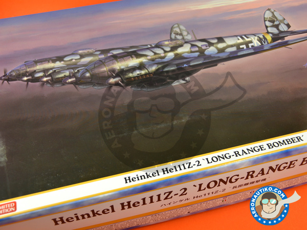 Image 15: Heinkel He 111 Z-2 | Airplane kit in 1/72 scale manufactured by Hasegawa (ref. 01940)
