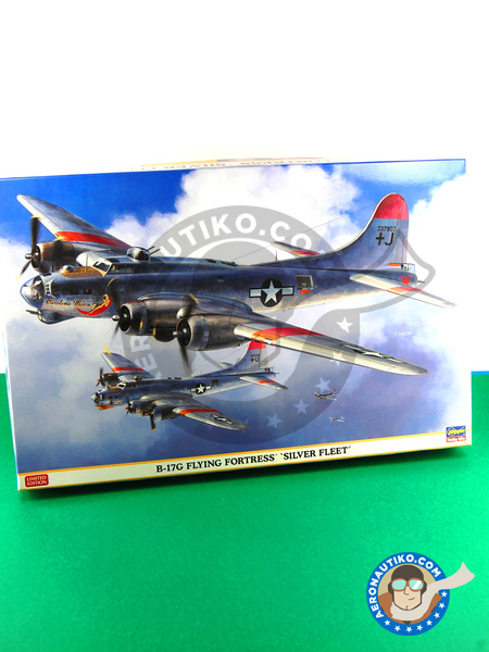 Boeing B-17 Flying Fortress G Airplane kit in 1/72 scale manufactured by  Hasegawa (ref  01961)