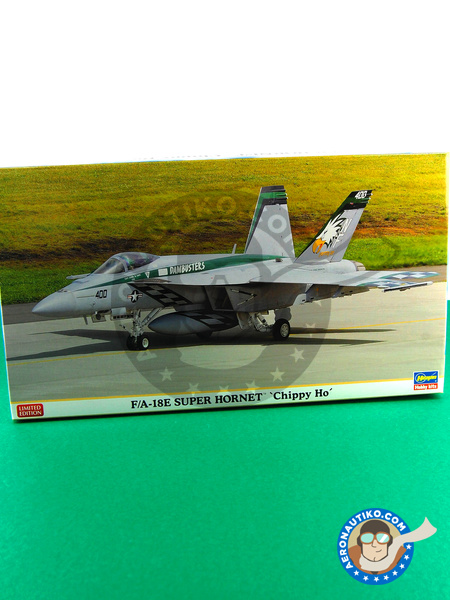 McDonnell Douglas F/A-18 Hornet E Super Hornet | Airplane kit in 1/72 scale manufactured by Hasegawa (ref. 01971) image