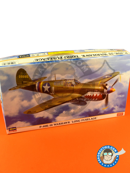 Curtiss P-40 Warhawk K-10 Long Fuselage | Airplane kit in 1/48 scale manufactured by Hasegawa (ref. 07319) image