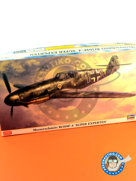 Messerschmitt Bf 109 F-4 | Airplane kit in 1/48 scale manufactured by Hasegawa (ref. 07379) image