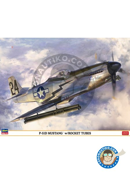 North American P-51 Mustang | Airplane kit in 1/32 scale manufactured by Hasegawa (ref. 08244) image