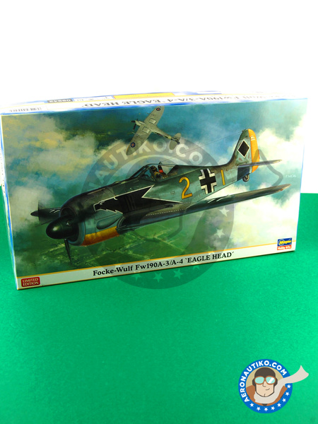 Focke-Wulf Fw 190 Würger A-3 / A-4 | Airplane kit in 1/48 scale manufactured by Hasegawa (ref. 09942) image