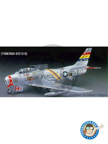 F-86F-30 SABRE 'U.S. AIR FORCE' | Airplane kit in 1/48 scale manufactured by Hasegawa (ref. PT13) image
