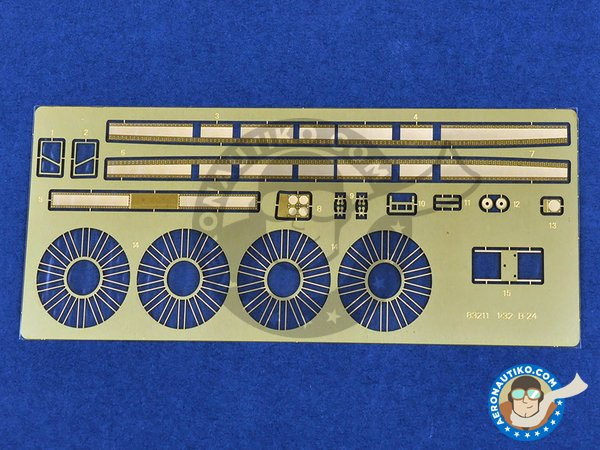 Image 7: B-24J Liberator | Airplane kit in 1/32 scale manufactured by Hobby Boss (ref. 83211)
