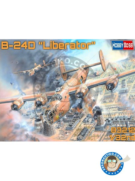 B-24D Liberator | Airplane kit in 1/32 scale manufactured by Hobby Boss (ref. 83212) image