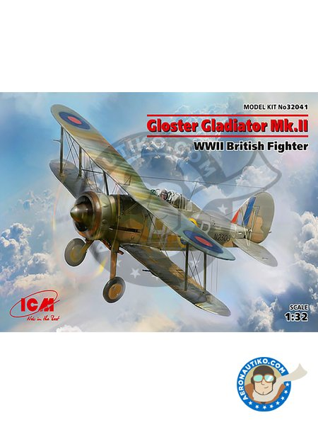 Gloster Gladiator Mk.II | Airplane kit in 1/32 scale manufactured by ICM (ref. 32041) image
