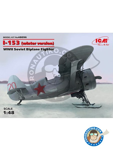 I-153 Winter Version | Airplane kit in 1/48 scale manufactured by ICM (ref. 48096) image