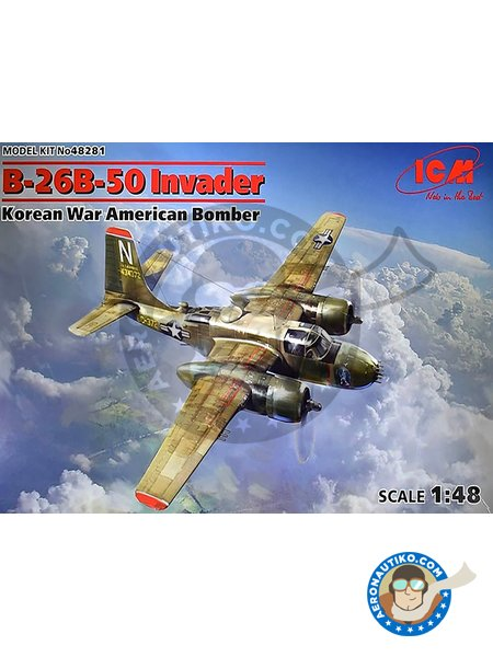 B-26B-50 Invader Korean War American Bomber | Airplane kit in 1/48 scale manufactured by ICM (ref. 48281) image