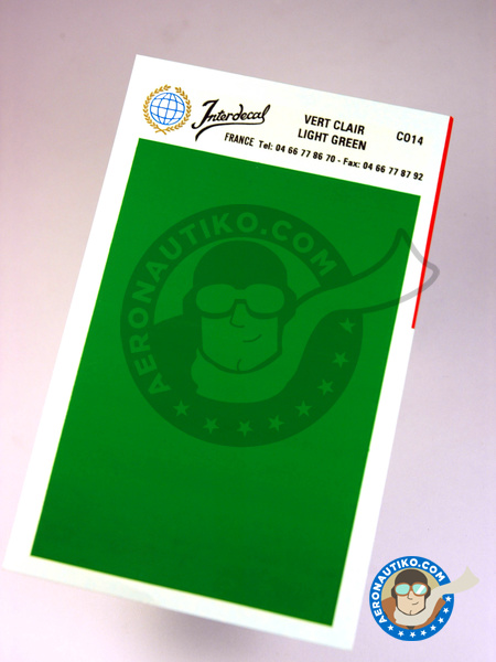 75 x 110 mm Light green | Decals manufactured by Interdecal (ref. INTERD-CO14) image