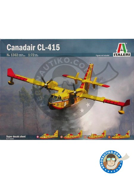 Canadair CL-415 | Airplane kit in 1/72 scale manufactured by Italeri (ref. 1362) image