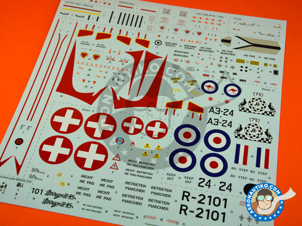 Image 9: Dassault Mirage III E / R | Airplane kit in 1/32 scale manufactured by Italeri (ref. 2510)