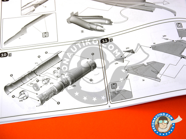 Image 13: Dassault Mirage III E / R | Airplane kit in 1/32 scale manufactured by Italeri (ref. 2510)