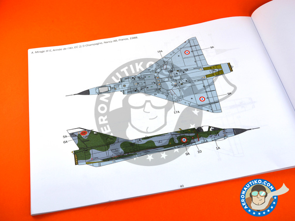 Image 17: Dassault Mirage III E / R | Airplane kit in 1/32 scale manufactured by Italeri (ref. 2510)