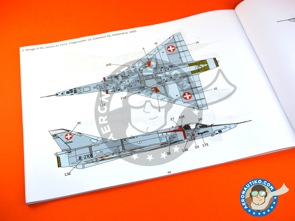 Image 21: Dassault Mirage III E / R | Airplane kit in 1/32 scale manufactured by Italeri (ref. 2510)