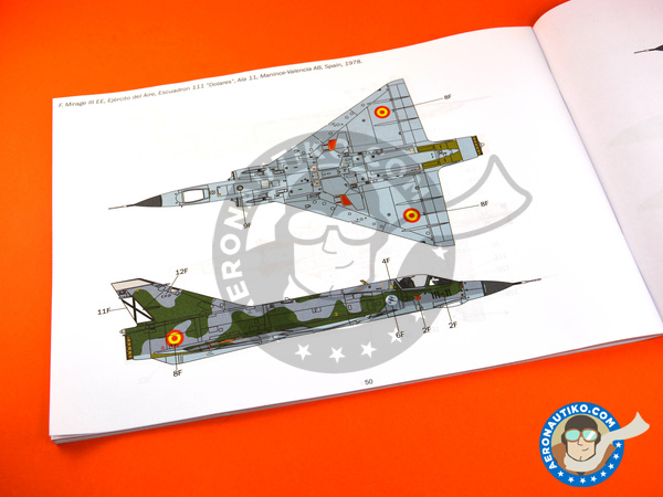 Image 22: Dassault Mirage III E / R | Airplane kit in 1/32 scale manufactured by Italeri (ref. 2510)