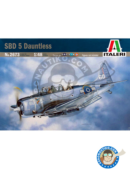 Douglas SBD Dauntless 5 | Airplane kit in 1/48 scale manufactured by Italeri (ref. 2673) image