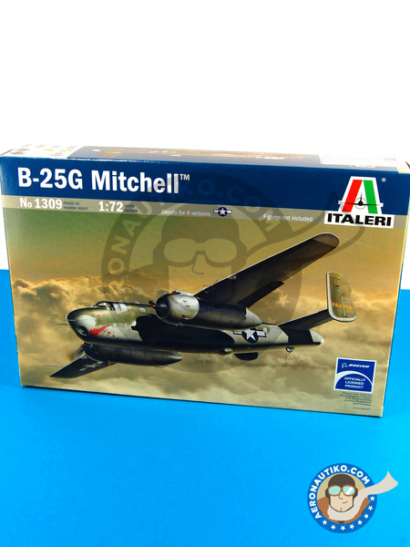 North American B-25 Mitchell G | Airplane kit in 1/72 scale manufactured by Italeri (ref. ITA1309) image