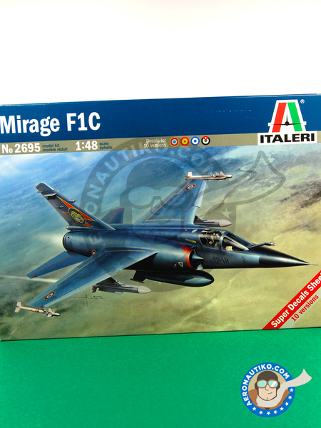 Dassault Mirage F1 C | Airplane kit in 1/48 scale manufactured by Italeri (ref. ITA2695) image