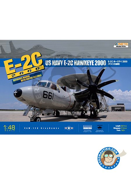 E-2C 2000 Hawkeye 1/48 | Airplane kit in 1/48 scale manufactured by Kinetic Model Kits (ref. K-48016) image