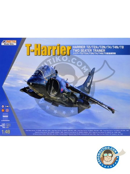 T-Harrier. Harrier T2/T2A/T2N/T4/T4N/T8 Two Seater Trainer | Airplane kit in 1/48 scale manufactured by Kinetic Model Kits (ref. K48040) image