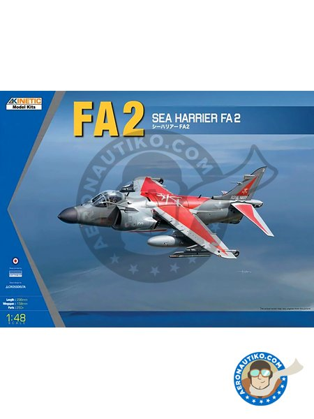 British Aerospace Sea Harrier FA2 | Airplane kit in 1/48 scale manufactured by Kinetic Model Kits (ref. K48041) image