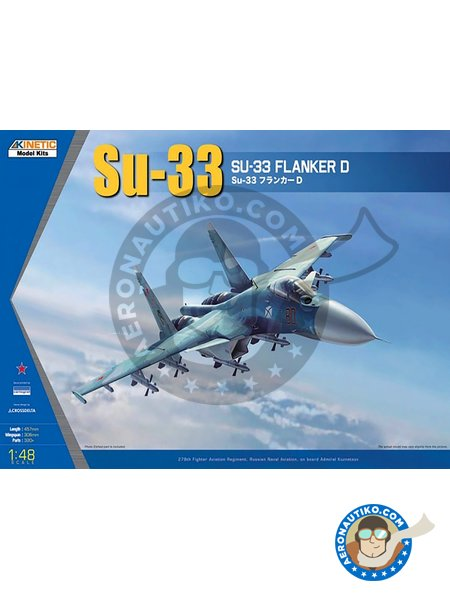SU-33 Flanker D | Airplane kit in 1/48 scale manufactured by Kinetic Model Kits (ref. K48062) image