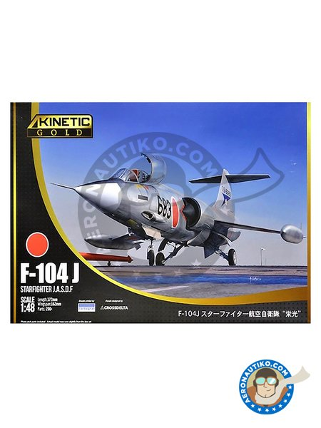 F-104J Starfighter JASDF | Airplane kit in 1/48 scale manufactured by Kinetic Model Kits (ref. K48080) image