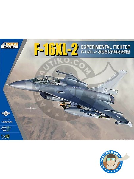 F-16XL-2 Experimental Fighter | Airplane kit in 1/48 scale manufactured by Kinetic Model Kits (ref. K48086) image