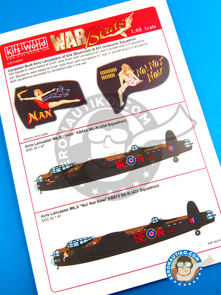 Avro Lancaster Mk.X B MK. I | Marking / livery in 1/48 scale manufactured by Kits World (ref. KW148041) image