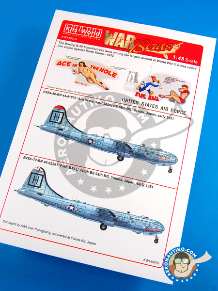 Boeing B-29 Superfortress | Marking / livery in 1/48 scale manufactured by Kits World (ref. KW148076) image