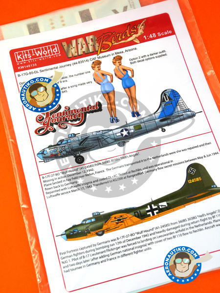 Boeing B-17 Flying Fortress | Marking / livery in 1/48 scale manufactured by Kits World (ref. KW148135) image