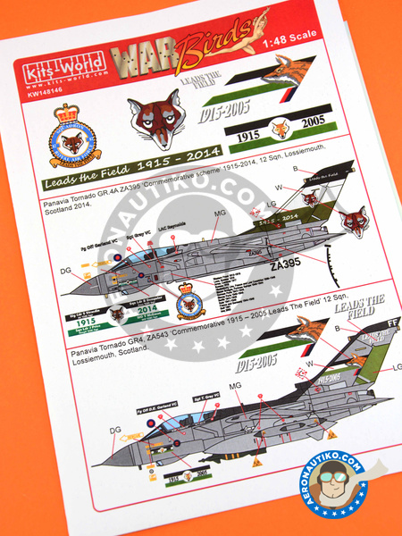 Panavia Tornado GR. 4 | Marking / livery in 1/48 scale manufactured by Kits World (ref. KW148146) image