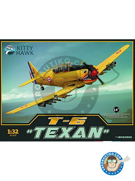 T-6 Texan Harvard II | Model kit in 1/32 scale manufactured by Kitty Hawk (ref. KH-32002) image