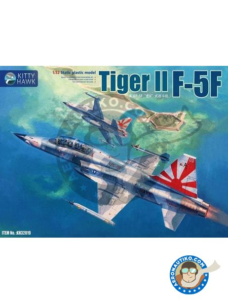Tiger II F-5F twin seat version. | Airplane kit in 1/32 scale manufactured by Kitty Hawk (ref. KH32019) image