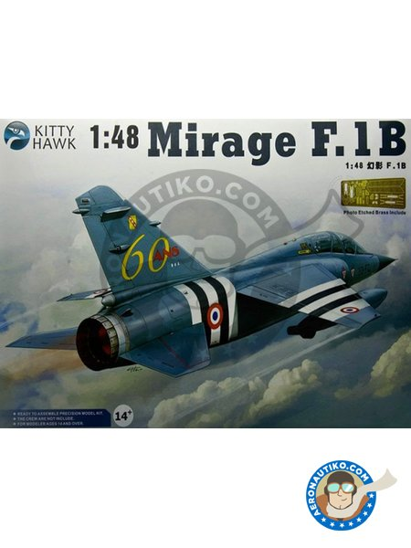 Mirage F.1B | Airplane kit in 1/48 scale manufactured by Kitty Hawk (ref. KH80112) image