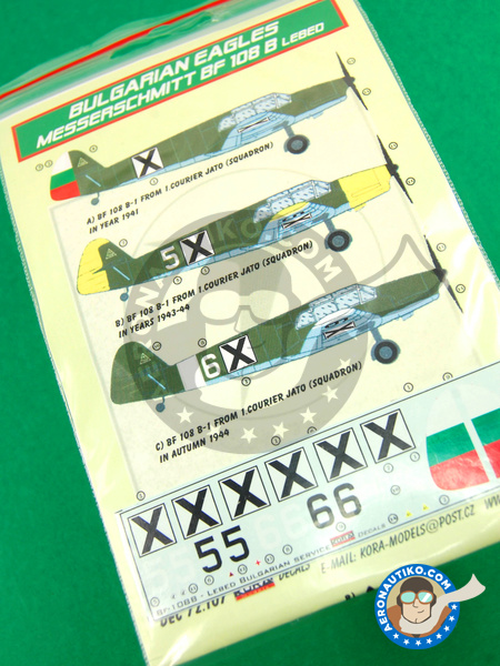 Messerschmitt Bf 108 Taifun B | Marking / livery in 1/72 scale manufactured by Kora Models (ref. KORA-Dec72107) image