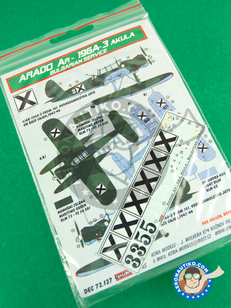 Arado Ar 196 A-3 | Marking / livery in 1/72 scale manufactured by Kora Models (ref. KORA-Dec72127) image