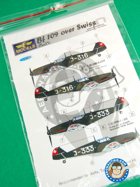 Messerschmitt Bf 109 | Marking / livery in 1/48 scale manufactured by LF Models (ref. LF-C4823) image