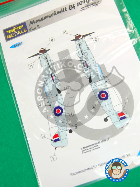 Messerschmitt Bf 109 G-10 | Marking / livery in 1/48 scale manufactured by LF Models (ref. LF-C4826) image